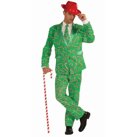 Christmas Candy Cane Suit Men's Adult Halloween Costume, 1 - Halloween Memes Australia