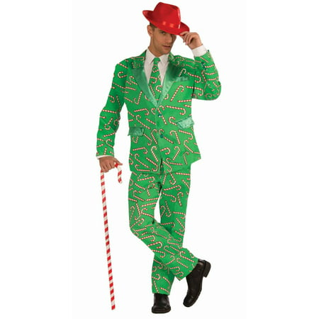 Christmas Candy Cane Suit Men's Adult Halloween Costume, 1 Size