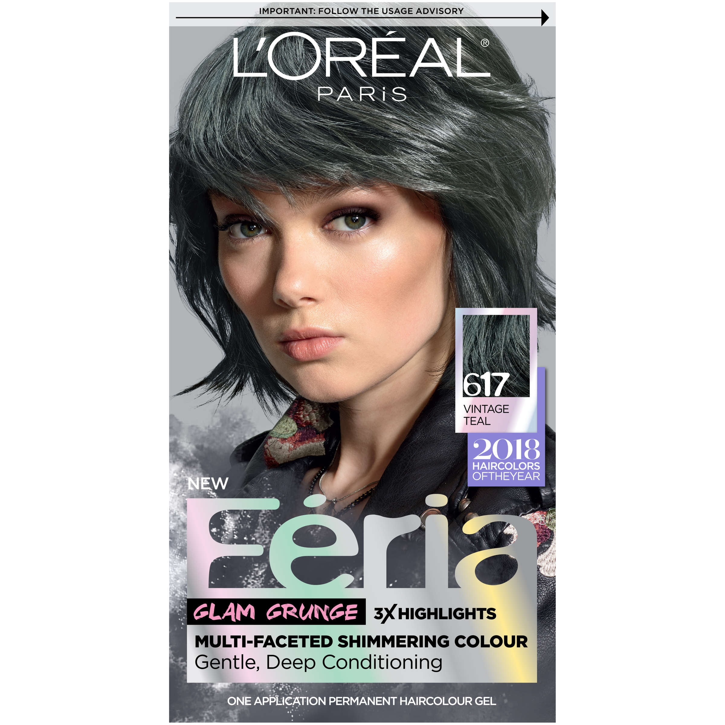 Loreal Paris Feria Permanent Hair Color 617 Vintage Teal Walmart