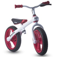 Joovy Bicycoo Pedal-less Toddler Balance Bike Balance, Without the Training Wheels, Red