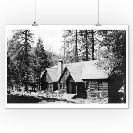 Camp Sierra, California View of Lodge Dining Hall Photograph (9x12 Art Print, Wall Decor Travel Poster) Dining Decor Art Print