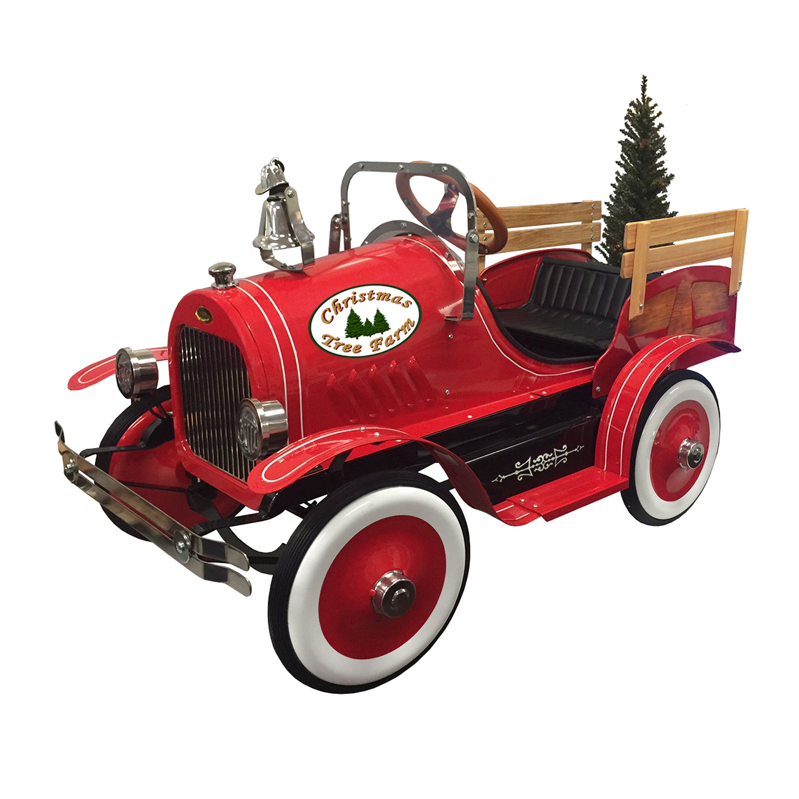 Dexton Kids Deluxe Christmas Tree Delivery Truck Roadster Pedal Car by Dexton Kids