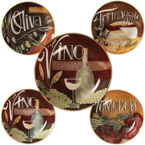 Certified International Bella Vita Pasta Bowl Set (Set of 5) by Overstock