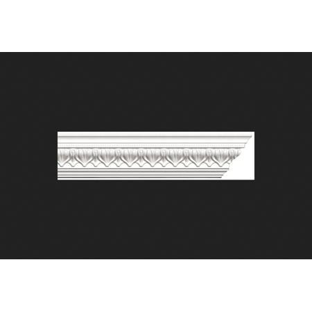Focal Point Acropolis Crown Moulding Polyurethane 3-1/4 in. H x 4-1/8 in. W x 8 ft. D White