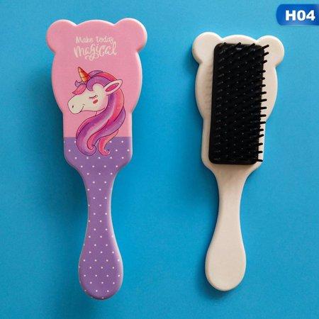 AkoaDa Cute Unicorn Airbag Massage Comb Scalp Hair Paddle Brush Anti-static