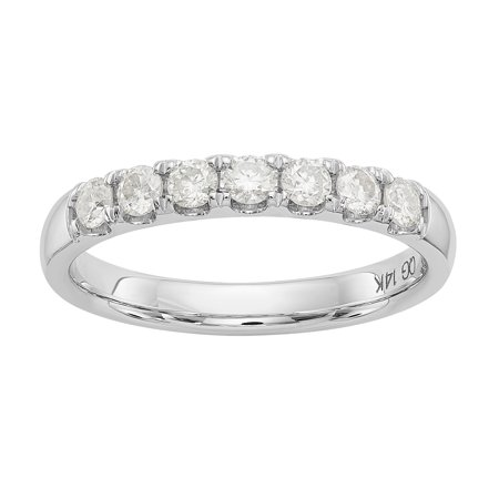 14kt 1/2 Carat 7 Stone Moissanite Band
