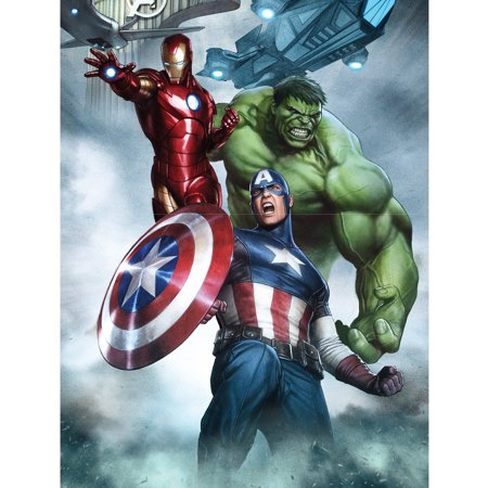 Marvel Avengers Portrait Canvas Wall Art With Led