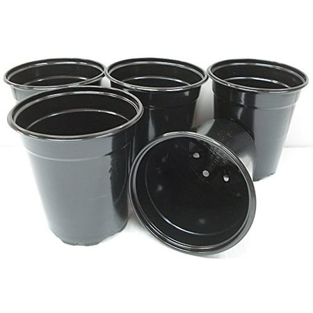 Black Plastic Starter Pot for Plants 5
