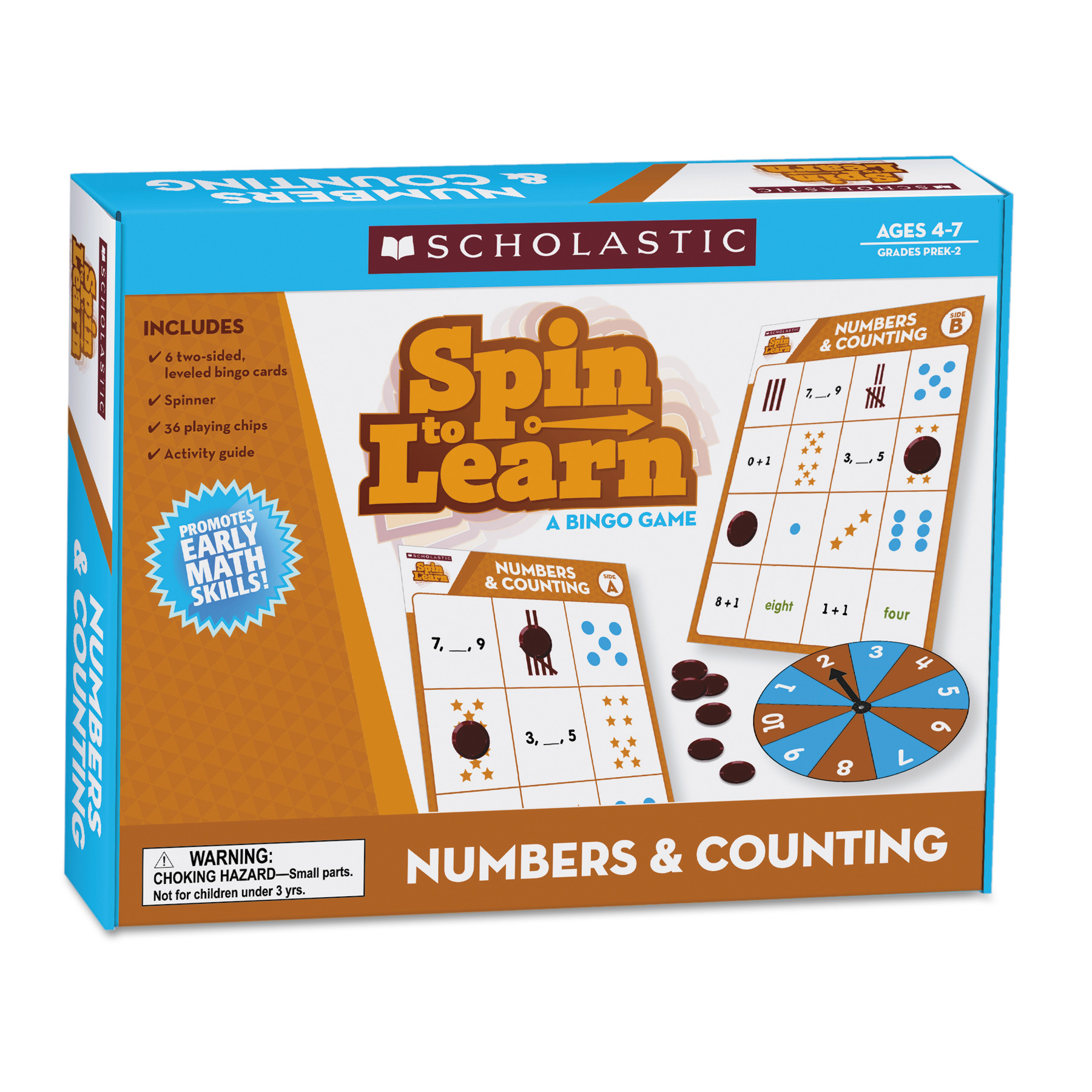Scholastic Spin to Learn, Numbers and Counting, Ages 4 to 7