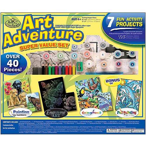Royal Langnickle Art Adventure Super Value Pack Set by Royal Brush