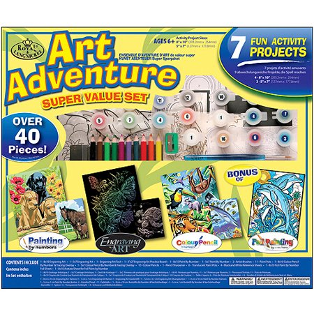Royal & Langnickel Art Adventure Super Value Sets - 7 Projects, 49pc - Cardboard Art Projects