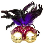 Musical Style Party Mardi Gras Adult Costume Mask Purple