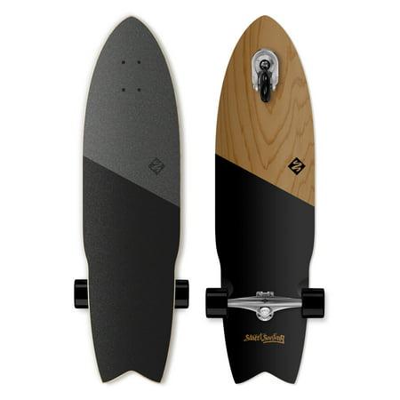 Street Surfing SHARK ATTACK Longboard Casterboard Surf Carving Cruiser 9.6 x (Best Longboard Surfing Videos)