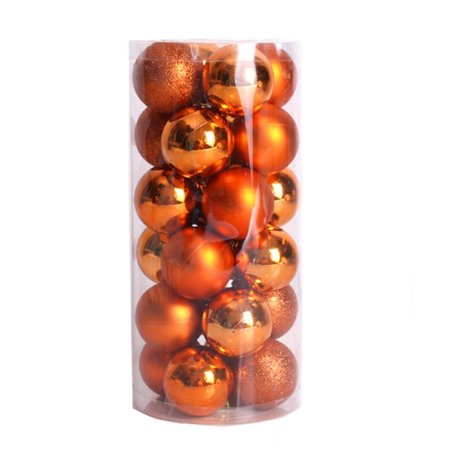 24pcs Shiny and Polshed Glossy Christmas Tree Ball Ornaments Decorations - Golf Christmas Decorations