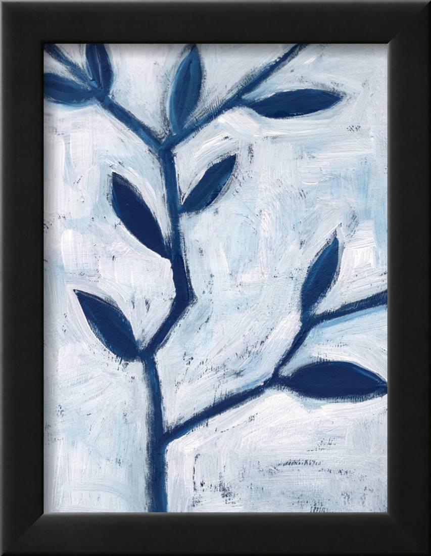 Blue and white ii framed print wall art by anne seay walmart com