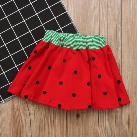 Hot fashion Kids Girls Watermelon Dress Mini Skirts Summer Party Sundress Outfits Clothes - Hot Girl With Clothes