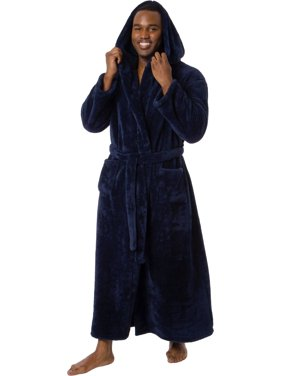 Ross Michaels Mens Luxury Hooded Full Length Big and Tall Long Bath Robe