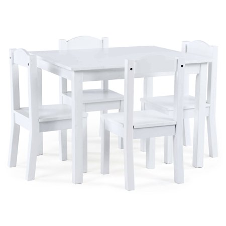 Humble Crew Kids Wood Table And 4 Chairs