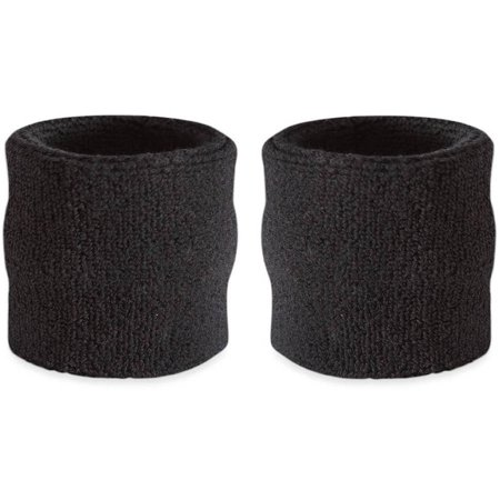 Wrist Sweatband Pair - Also Available in Neon Colors - Athletic Cotton Terry Cloth Wristbands for Sports