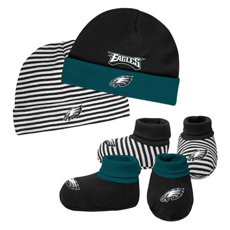 - Newborn & Infant Midnight Green/Black Philadelphia Eagles Cuffed Knit Hat & Booties Set - Newborn