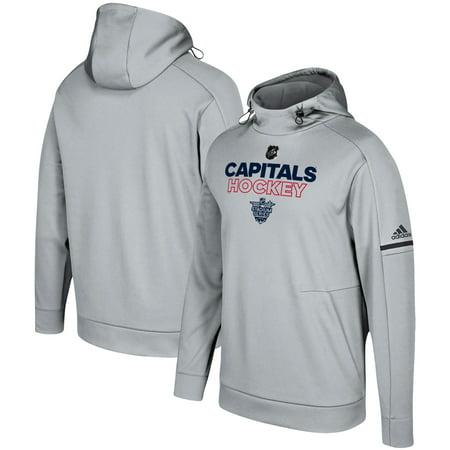 Pullover Logo Washington - Capitals Gray Hoodie Event 2018 Pro Series Player Adidas Stadium Nhl