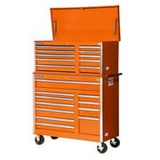 International VRC-4221OR 42 in. 21-Drawer Combo Orange -VRT-4210,VRB-4211