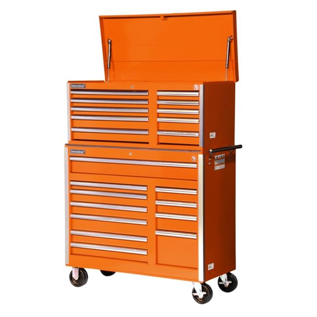 International VRC-4221OR 42 in. 21-Drawer Combo Orange -VRT-4210,VRB-4211