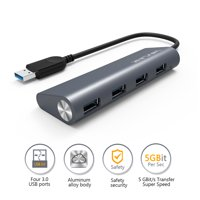 Wavlink USB 3.0 to 4-port USB Hub Aluminum Body Multi-Function Dock for PC, Laptop, Ultrabook, Notebook and More
