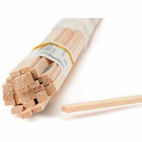 """Midwest Products Basswood Strips, 24-1/4"""" x 1/2"""""""