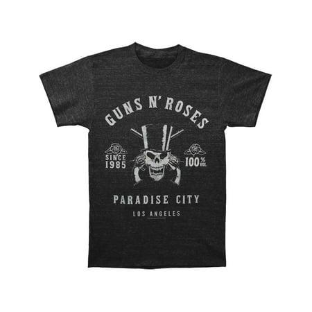 Guns N Roses Men's  Skeleton L.A. Label Vintage T-shirt - Halloween Guns N Roses