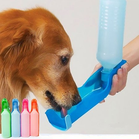 250ML/500ML Outdoor Portable Pet Dog Water Bottles Foldable Tank Travelling Bowl Feeding Dispenser red 250ml