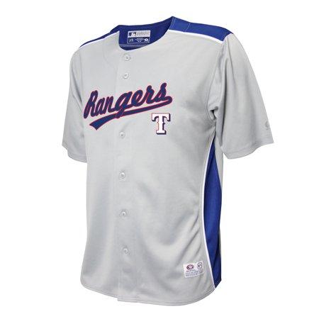 MLB TEXAS RANGERS BUTTON DOWN JERSEY Ranger Baseball Jersey