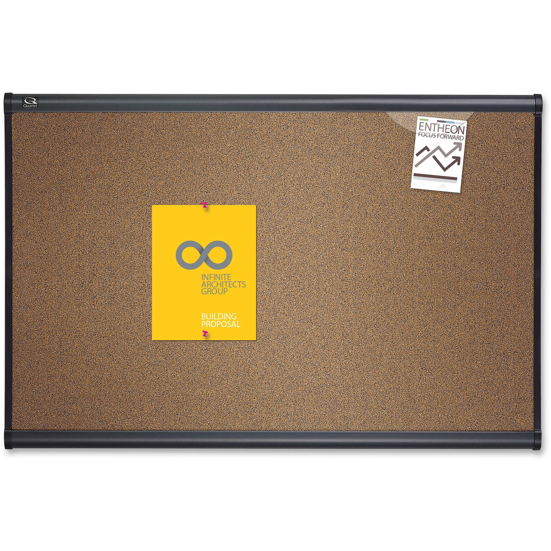 Quartet, QRTB243G, Prestige Colored Cork Bulletin Boards, 1 Each