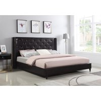 "HomeLife® 48"" Brown Leather Headboard & Platform Bed"