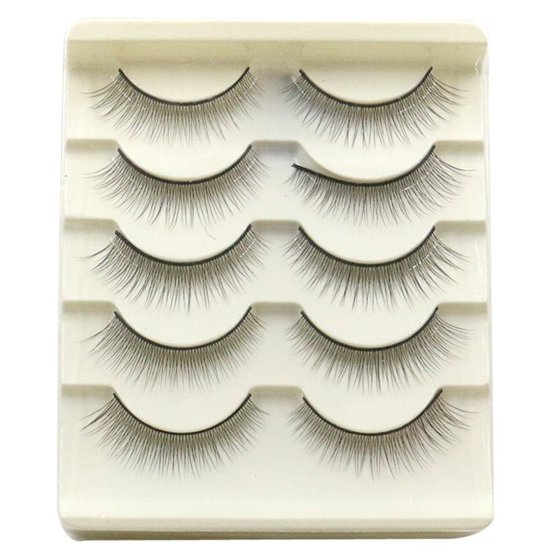 5 Pair Handmade Natural False Eyelashes White Walmart