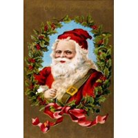 Christmas Greetings Nostalgia Cards Stretched Canvas -  (18 x 24)
