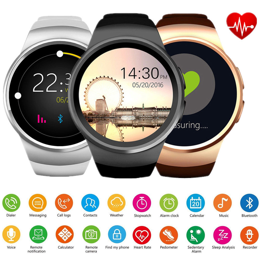 Waterproof Bluetooth Smart Watch Wrist SIM GSM Phone Mate for Android IOS iPhone(Sliver)