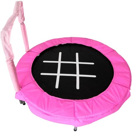 JumpKing Trampoline 4-Foot Bouncer for Kids, Pink (Best Trampoline For 3 Year Old)
