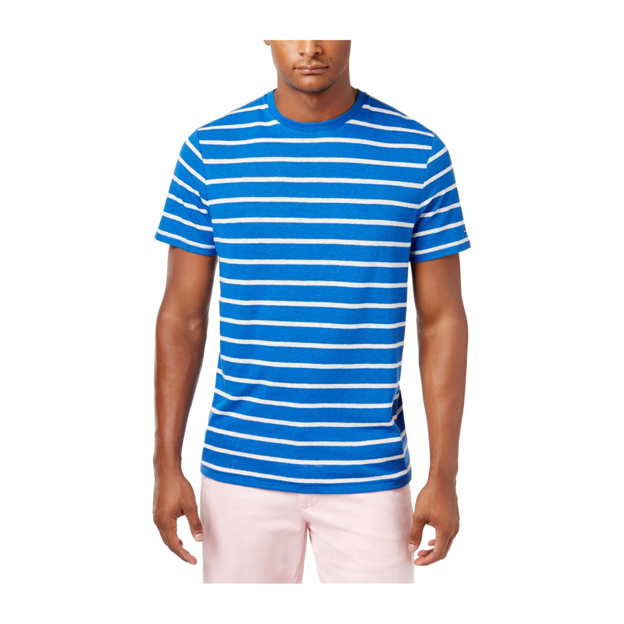 1433c630 Tommy Hilfiger Mens Striped Basic T-Shirt nauticalblue XL | Walmart Canada
