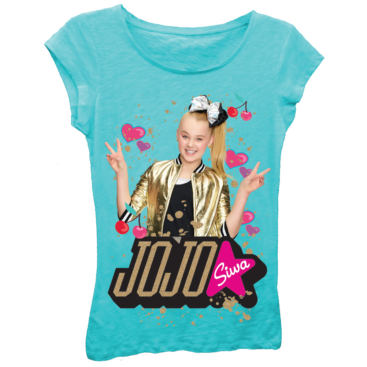 Jojo Siwa Girls' Jojo Siwa Short Sleeve Graphic T-shirt With Gold Glitter