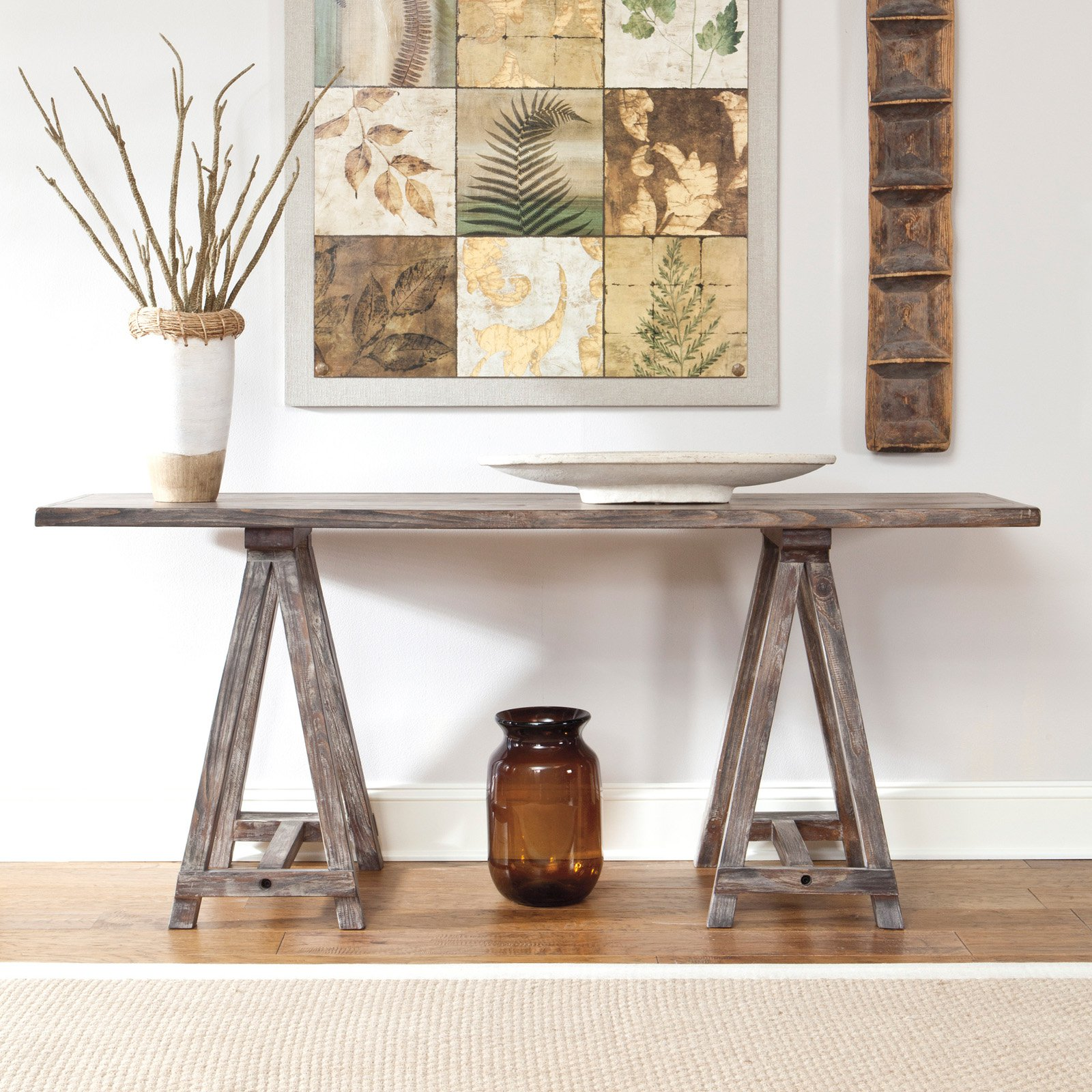 Superbe Signature Design By Ashley Rustic Accents Rectangular Brown Console Table    Walmart.com
