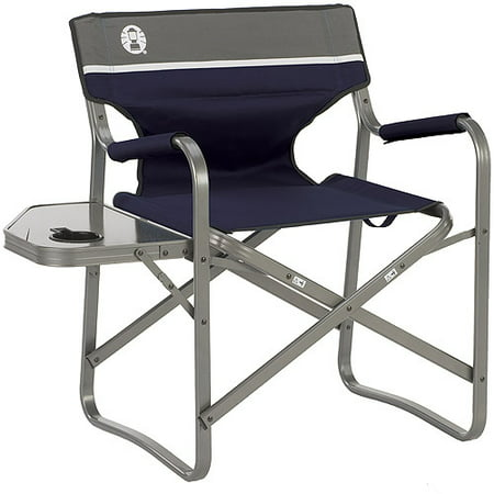 Coleman Aluminum Deck Chair With Folding Side Table