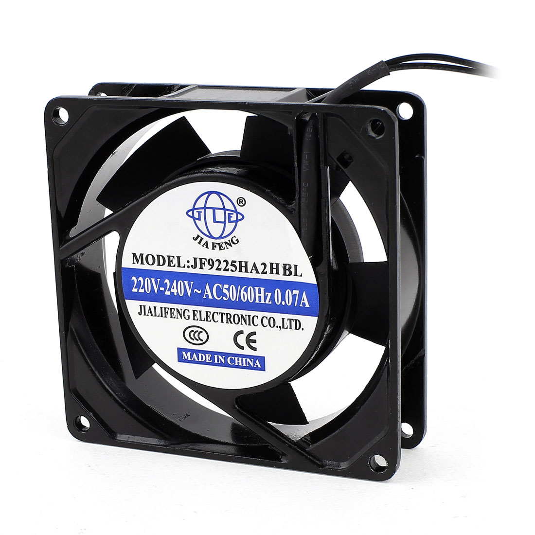 AC 220V-240V 0.07A 2 Wires Ball Bearing Axial Cooling Fan...