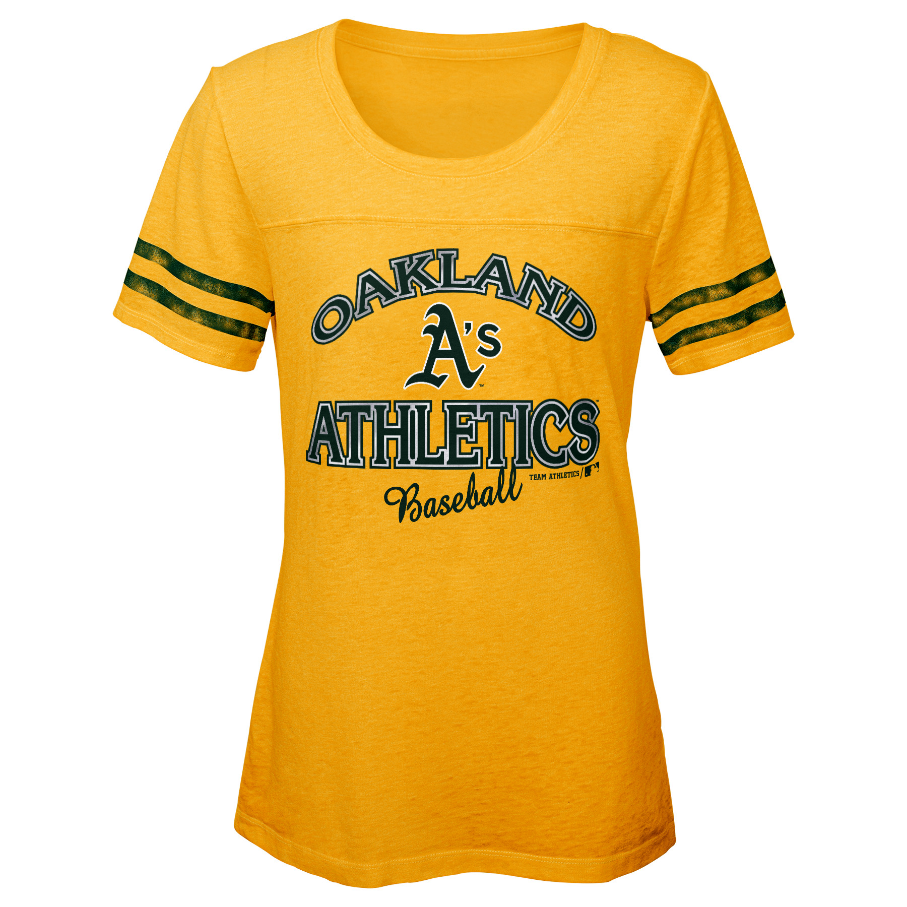 MLB OAKLAND A'S TEE Short Sleeve Girls Fashion 60% Cotton 40% Polyester Alternate Team Colors 7 - 16