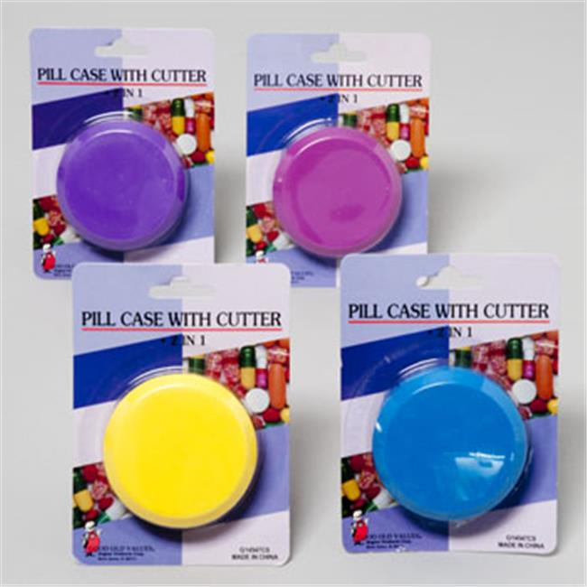 RGP G14547CS Pill Case With Cutter Round, Pack Of 48