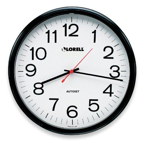 Lorell Radio Controlled Wall Clock - Digital - Quartz - Atomic (LLR60994)