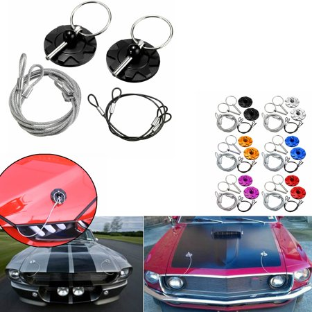 6 Colors Hood Lock Universal CNC Billet Aluminum Car Racing Hood Pin Lock Appearance Kit ()