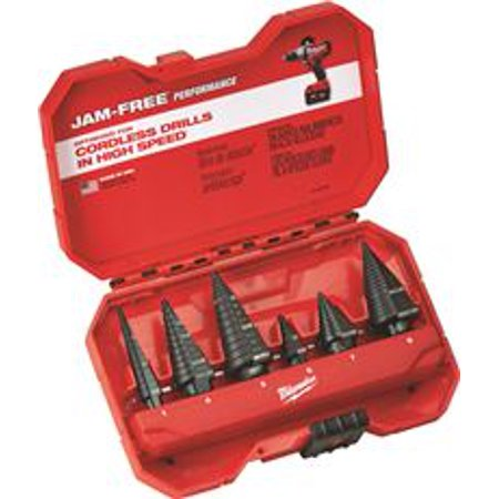 - Milwaukee 6-Piece Step Drill Bit Set
