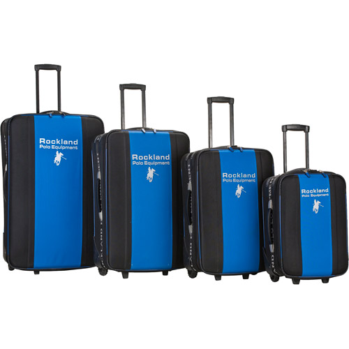 Rockland Luggage Polo Equipment 4-Piece Expandable Luggage Set