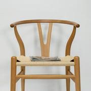 "Mid Century Modern ""W"" Dining Side Chair (Black)"